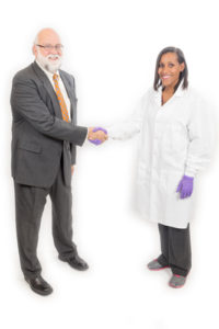 Bob and Candace shaking hands